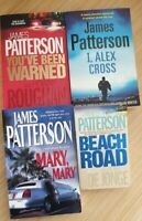 James Patterson bulk x4 -Alex Cross, Mary Mary, You've Been Warned & Beach Road