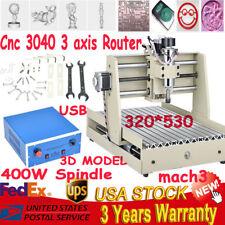 CNC Router 3040 DIY 400W 3-Axis Engraver Engraving Milling Machine Desktop&USB