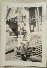 Vintage black and white photograph Jay, Oklahoma Feed Store
