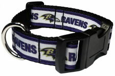 BALTIMORE RAVENS FOOTBALL SPORTS DOG COLLAR OR ADD MATCHING LEASH