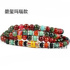 6mm Tibetan Buddhism 108 dream agate Beads Mantra Mala Necklace