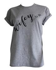 'Wifey to be' Slogan Boyfriend Roll Sleeve TShirt