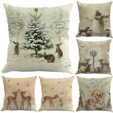 Christmas Elk Printed Dyeing Sofa Bed Home Decor Throw Pillow Case Cushion Cover