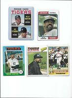 Willie Horton Tigers Lot of (5) Different w/ 1964 Topps Rookie #512 EX or Better