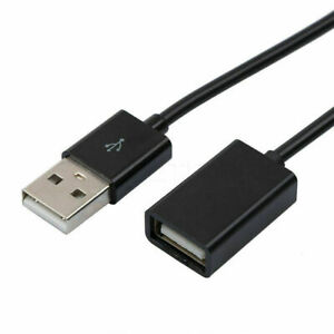 Black 1m USB 2.0 Extension A male to A female lead cable, iPhone phone charger