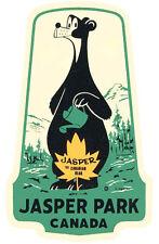 Jasper National Park   Alberta   Canada    Vintage-Looking  Sticker-Decal-Label