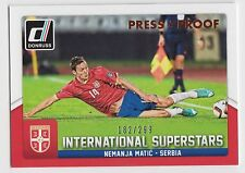 NEMANJA MATIC 2015 Donruss Soccer International Superstars Bronze Proof #/299