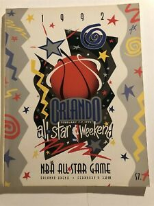 1992 NBA ALL STAR GAME Program MICHAEL JORDAN Barkley MALONE Magic DREXLER Bird
