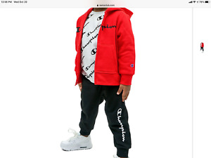 New Boy's Red Champion 3pc Hoodie Track suit size 3T