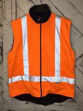 Fleece Lined High Visibility Safety Vest Fleece Lined Reversible Orange/Blue 4X