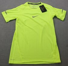 NIKE AEROREACT Mens Neon Yellow Reflective Running Raglan SS T-Shirt NWT XS  $90