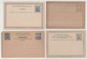 D2809: (9) Early Liberia Postal Stationary Pieces, Unused
