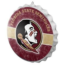 """Florida State Bottle Cap Wall Sign - Distressed - Room Bar Decor Metal 13.5"""""""