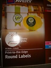 AVERY PRINT TO THE EDGE ROUND LABELS 22961