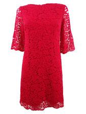 Lauren by Ralph Lauren Women's Petite Lace Bell-Sleeve Shift Dress