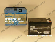 """PEG PEREGO 12 VOLT SLIM """" BARE"""" BATTERY REPLACEMENT ***NEW***"""