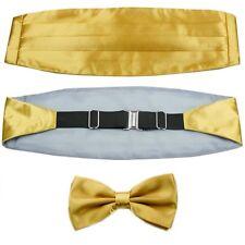 Goldenrod Men's Set Adjustable Pleated Solid Cummerbund Bowtie Pre Tied LJYF03