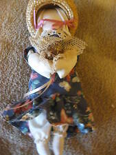 "Vintage Stuffed Cloth Fabric Doll Bunny Rabbit 9"" Collectible Cl10-13"