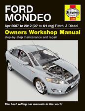 Haynes Officina Riparazione Manuale Proprietari Ford Mondeo Petrol Diesel 07-12