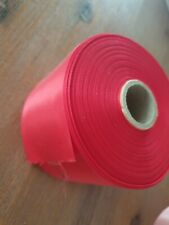 Red Single Sided satin ribbon 72mm