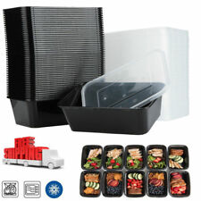 50 Meal Prep Containers Plastic Food Storage Reusable Microwavable 1 Compartment