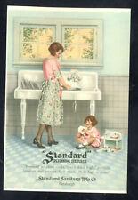 Standard Plumbing Fixtures Company Farm Sink Kitchen Advertising Postcard Copy