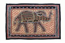 Elephant Tapestry Antique Art Indian Patchwork Wall Hanging Christmas Gift