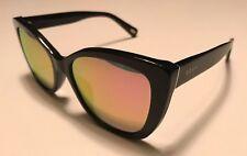 DIFF Eyewear Ruby Polarized BK-PK15P Sunglasses Black Frame Mirror Polarized Len