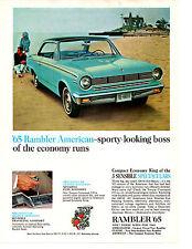 1965 RAMBLER AMERICAN 440-H 232/155 HP ~ ORIGINAL PRINT AD