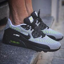 Nike Air Max 90 Ultra BR Mens Sz 9 Wolf Grey/Black-White-Volt 725222-007