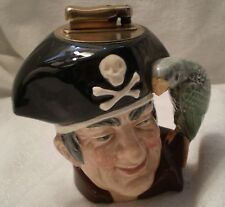 Royal Doulton Long John Silver Pirate Lighter Parrot Skull Crossbones
