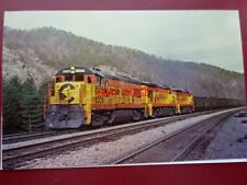 POSTCARD USA LOCOMOTIVE - CHESSIE SYSTEM GE U-30B NO 8206 CHESAPEAKE & OHIO COAL