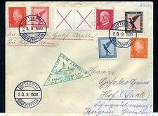 1930 Ostseefahrt Bordpostbrief mit schöner Frankatur Si. 88