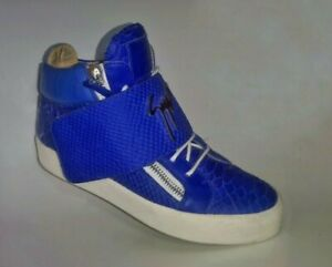 Giuseppe Zanotti Sneaker aus blauem Schlangenleder