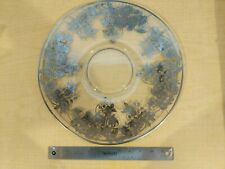 Large Decorated Glass Cake Stand Plate Platter