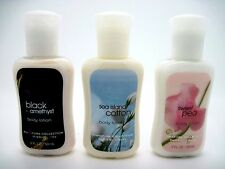Set Of 3 Bath & Body Works Lotions BLACK AMETHYST,SEA ISLAND COTTON,SWEET PEA