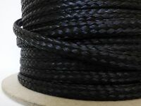 "1/4"" x 200 ft. hank of Hollow Braid Polypropylene Rope Hank.Black. Made in USA."