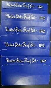 Lot of 5-1972S U.S. Proof Sets