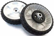 """2 Set OEM Toro 8"""" Drive Wheel Gear Tire for 22"""" Recycler Lawnmower 20332 20352 +"""