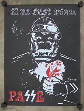 Affiche originale mai 68 Il ne s'est rien passé CRS brin muguet poster 1968