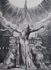 BLAKE William : L'ascension de Job - GRAVURE N&B - Livre DE job - Bible #1902