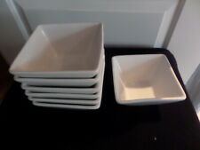 WHITE SQUARE SERVING DISHES 13.5cm square, 7cm high