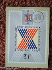 Schede PHQ 96 IED ANTERIORE Commonwealth seguite Associazione 1986. ottime condizioni