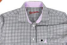 Robert Graham Black White Houndstooth Check French Cuff Dress Shirt 15.5 / 39 cm