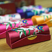 Fashion Portable Lipstick Case Holder Floral Pattern Box Chinese Style Gift