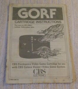 COLECO VISION INSTRUCTION (RARE) MANUAL ONLY *** GORF *** USED