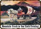 1975 RAINIER BEER & MT. GOAT & BOTTLE Vintage-Look DECORATIVE REPLICA METAL SIGN