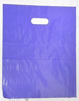 "100 12"" x 15"" PURPLE  GLOSSY Low-Density Plastic Merchandise Bags"