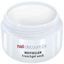 UV Color Gel French-Gel weiß 5ml mittelviskos Maniküre natur Nail Art Tip white