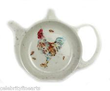 Country gallo melamina Bolsas de té Organizador Posavasos Cocina superficie